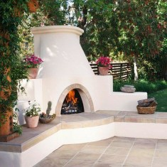 Relaxing Outdoor Fireplace Designs For Your Garden45