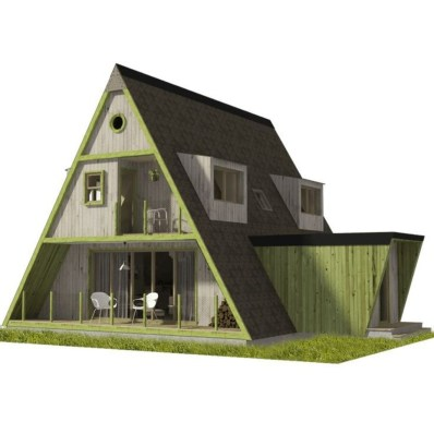 Unforgettable Designs Of A Frame Houses17