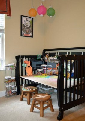Inspirational Ways How To Repurpose Old Babys Cribs15