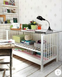 Inspirational Ways How To Repurpose Old Babys Cribs19