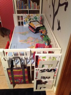Inspirational Ways How To Repurpose Old Babys Cribs28