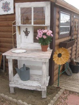 Simple And Creative Ideas Of How To Reuse Old Doors17