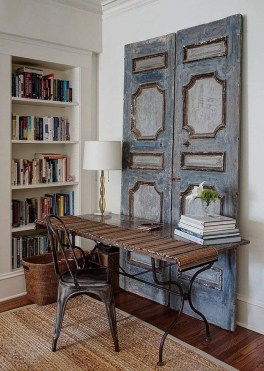 Simple And Creative Ideas Of How To Reuse Old Doors33