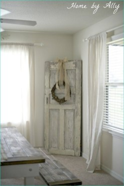 Simple And Creative Ideas Of How To Reuse Old Doors36