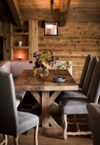 Warm Cozy Rustic Dining Room Designs For Your Cabin03