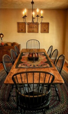 Warm Cozy Rustic Dining Room Designs For Your Cabin07