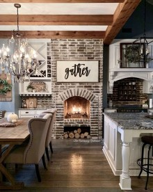 Warm Cozy Rustic Dining Room Designs For Your Cabin20