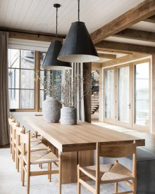 Warm Cozy Rustic Dining Room Designs For Your Cabin22
