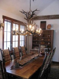 Warm Cozy Rustic Dining Room Designs For Your Cabin23