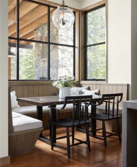 Warm Cozy Rustic Dining Room Designs For Your Cabin27