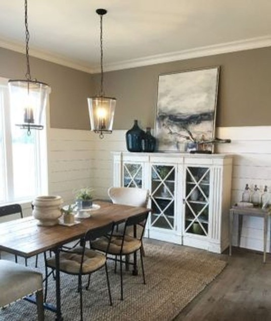 Warm Cozy Rustic Dining Room Designs For Your Cabin36