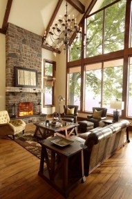Warm Rustic Family Room Designs For The Winter31
