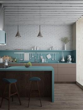 Beautifful And Cozy Colourfull Kithcen Ideas15