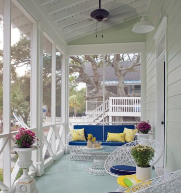 Beautiful And Colorful Porch Design08