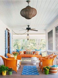 Beautiful And Colorful Porch Design34