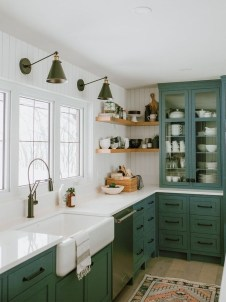 Beautiful And Cozy Green Kitchen Ideas02