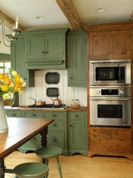 Beautiful And Cozy Green Kitchen Ideas09