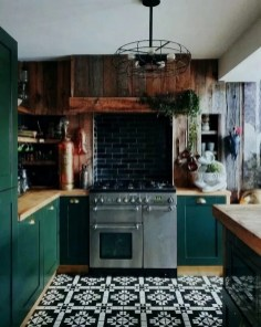 Beautiful And Cozy Green Kitchen Ideas10