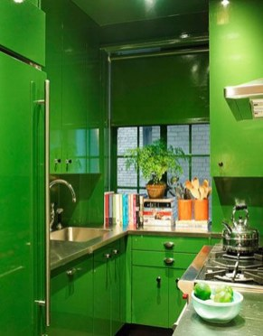 Beautiful And Cozy Green Kitchen Ideas15
