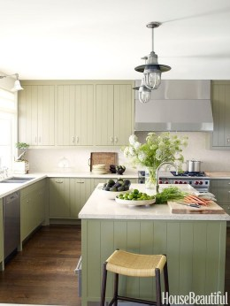 Beautiful And Cozy Green Kitchen Ideas17