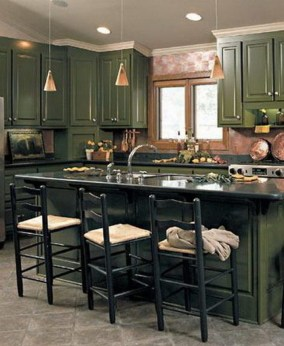 Beautiful And Cozy Green Kitchen Ideas18