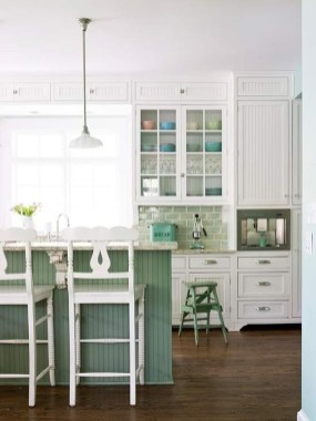 Beautiful And Cozy Green Kitchen Ideas24