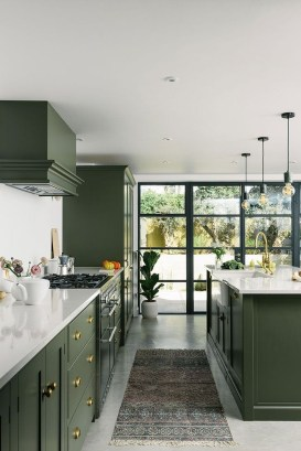 Beautiful And Cozy Green Kitchen Ideas25