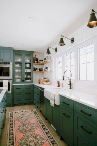 Beautiful And Cozy Green Kitchen Ideas28