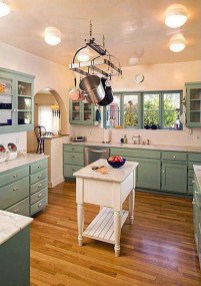 Beautiful And Cozy Green Kitchen Ideas29