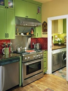 Beautiful And Cozy Green Kitchen Ideas30
