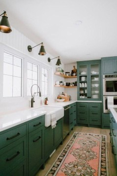 Beautiful And Cozy Green Kitchen Ideas35