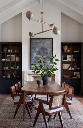 Elegant And Cozy Diningroom Design Ideas25