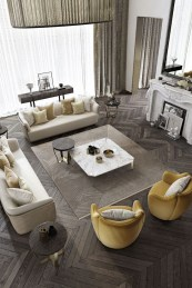 Luxury And Elegant Living Room Design19