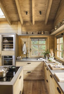 Warm Cozy Rustic Kitchen Designs For Your Cabin05