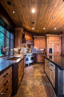 Warm Cozy Rustic Kitchen Designs For Your Cabin11