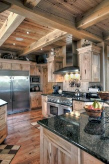 Warm Cozy Rustic Kitchen Designs For Your Cabin19