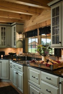 Warm Cozy Rustic Kitchen Designs For Your Cabin20