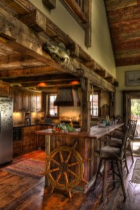 Warm Cozy Rustic Kitchen Designs For Your Cabin22