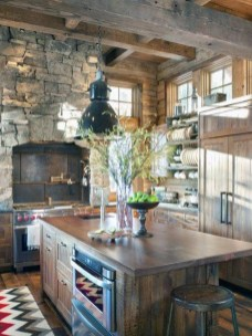 Warm Cozy Rustic Kitchen Designs For Your Cabin23