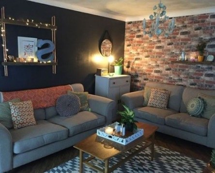 Awesome Brick Expose For Living Room12