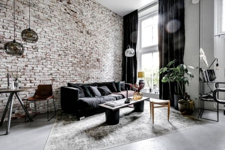 Awesome Brick Expose For Living Room29