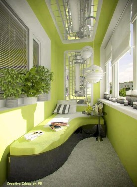 Cozy And Beautiful Green Balcony Ideas07