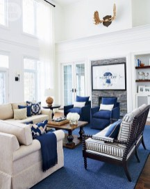 Cozy And Luxury Blue Living Room Ideas13