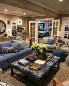 Cozy And Luxury Blue Living Room Ideas41