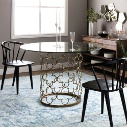 Luxurious Black And Gold Dining Room Ideas For Inspiration05