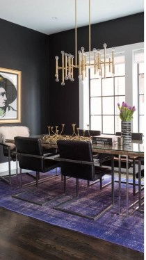 Luxurious Black And Gold Dining Room Ideas For Inspiration09