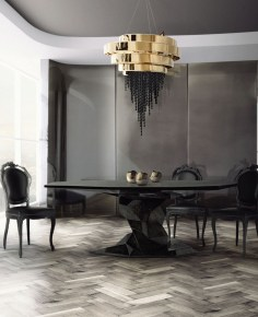 Luxurious Black And Gold Dining Room Ideas For Inspiration14