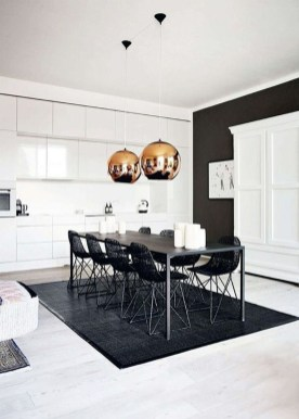 Luxurious Black And Gold Dining Room Ideas For Inspiration16