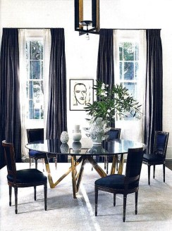 Luxurious Black And Gold Dining Room Ideas For Inspiration23