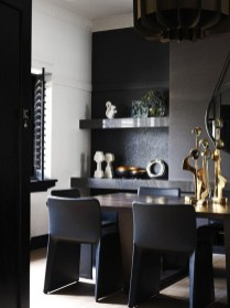 Luxurious Black And Gold Dining Room Ideas For Inspiration28